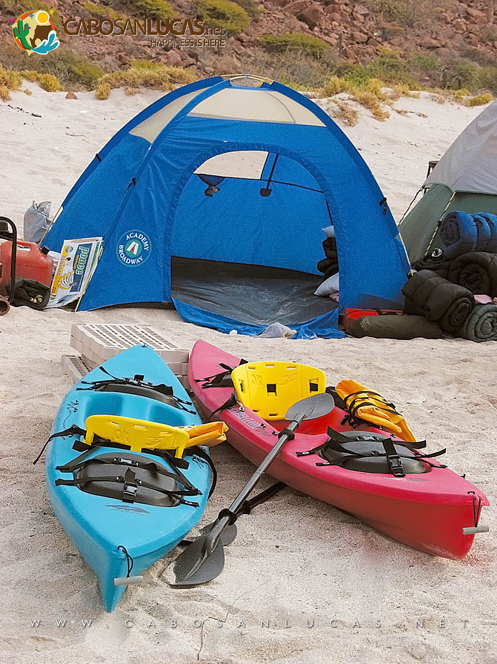 Camping and kayaking