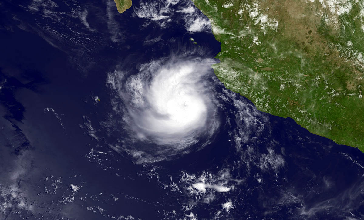 Hurricane Odile on its way to Cabo San Lucas