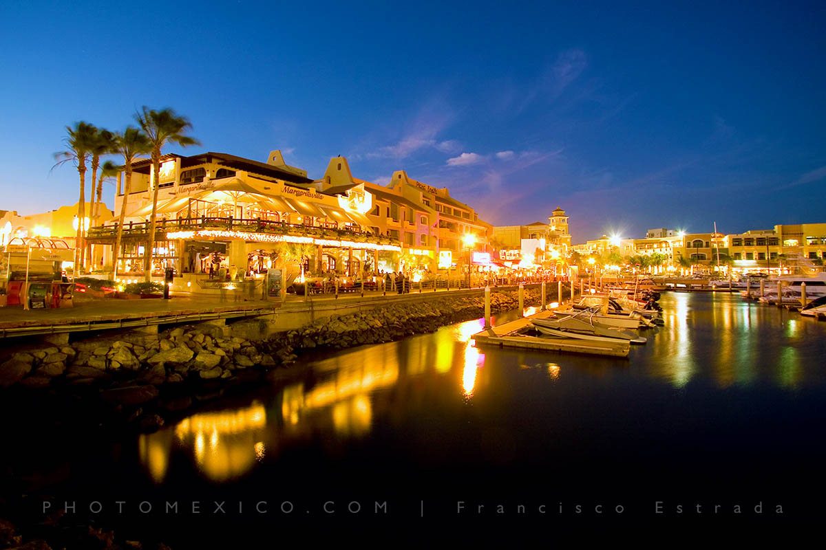 Cabo Marina at night