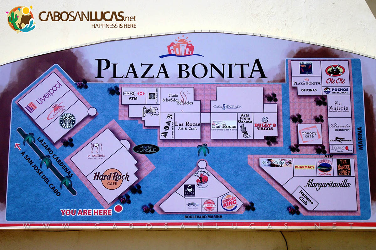 Plaza Bonita Mall Map